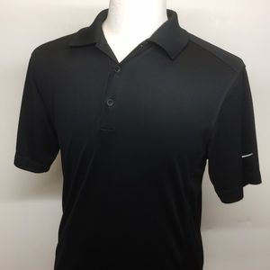 Nike DriFit polo in black size Medium. Perfect.